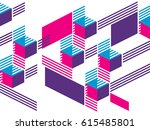 creative abstract geometric... | Shutterstock .eps vector #615485801
