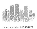 city stylized background | Shutterstock .eps vector #615508421