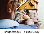 the hands of the craftsmen... | Shutterstock . vector #615510239