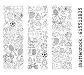 children kids fitness and sport ... | Shutterstock .eps vector #615512825