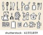 kitchen element hand draw