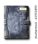 old grunge Black color leather binder - stock photo