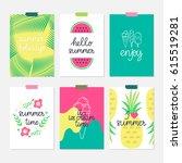 vector set of hand drawn summer ...   Shutterstock .eps vector #615519281