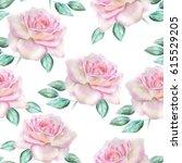 watercolor roses pattern.   Shutterstock . vector #615529205
