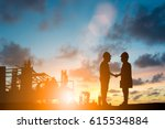 silhouette the head of a large... | Shutterstock . vector #615534884
