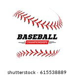 baseball ball on white... | Shutterstock .eps vector #615538889