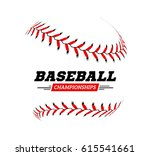 baseball ball on white... | Shutterstock . vector #615541661