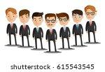 group of business men   working ... | Shutterstock .eps vector #615543545