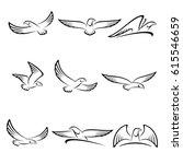 eagles set. vector | Shutterstock .eps vector #615546659