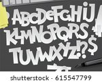 vector graphic alphabetical... | Shutterstock .eps vector #615547799