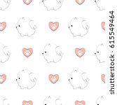 seamless pattern with cute... | Shutterstock .eps vector #615549464