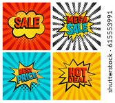sales icons vector set. big ... | Shutterstock .eps vector #615553991