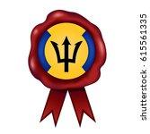 barbados wax seal   Shutterstock .eps vector #615561335