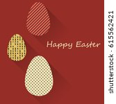 happy easter greeting banners.... | Shutterstock .eps vector #615562421