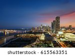 miami downtown at night ... | Shutterstock . vector #615563351