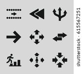 forward icons set. set of 9... | Shutterstock .eps vector #615567251