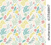 vector seamless pattern with...   Shutterstock .eps vector #615568847