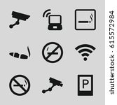zone icons set. set of 9 zone...   Shutterstock .eps vector #615572984