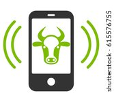 cow mobile control vector icon. ... | Shutterstock .eps vector #615576755