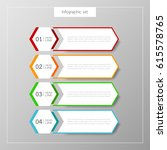 infographic button template... | Shutterstock .eps vector #615578765