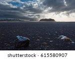 icelandic landscape with black...