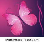 butterfly  on a purple... | Shutterstock .eps vector #61558474