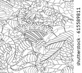 tracery seamless pattern.... | Shutterstock .eps vector #615589811