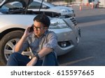 young asian handsome man... | Shutterstock . vector #615597665
