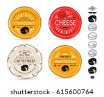 set of template labels for...   Shutterstock .eps vector #615600764