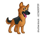 friendly dog of the german...   Shutterstock .eps vector #615600959