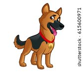 friendly dog of the german... | Shutterstock .eps vector #615600971