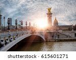 alexandre iii bridge  paris... | Shutterstock . vector #615601271