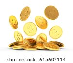 Pile Of Falling Golden Coins...