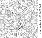 tracery seamless pattern.... | Shutterstock .eps vector #615602261