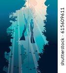 underwater vector illustration. ...
