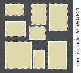 templates of postage stamps of... | Shutterstock .eps vector #615609851