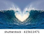wave heart | Shutterstock . vector #615611471