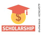 scholarship. coin and... | Shutterstock .eps vector #615614579
