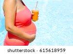 beautiful pregnant woman...   Shutterstock . vector #615618959