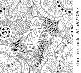 tracery seamless pattern.... | Shutterstock .eps vector #615622097