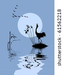Vector Silhouette Of The Birds...