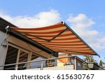new terrace awning | Shutterstock . vector #615630767