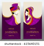 wedding invitation card... | Shutterstock .eps vector #615640151