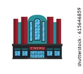 cinema building in flat style... | Shutterstock .eps vector #615646859