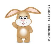 happy easter. funny bunny.... | Shutterstock .eps vector #615648431