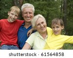 elderly couple with their... | Shutterstock . vector #61564858