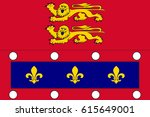 flag of orne is a department in ... | Shutterstock . vector #615649001