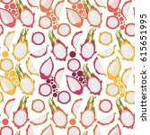 seamless pattern with colorful... | Shutterstock .eps vector #615651995