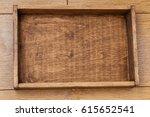 empty wood box top view | Shutterstock . vector #615652541