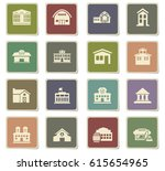 infrastructure vector icons for ... | Shutterstock .eps vector #615654965
